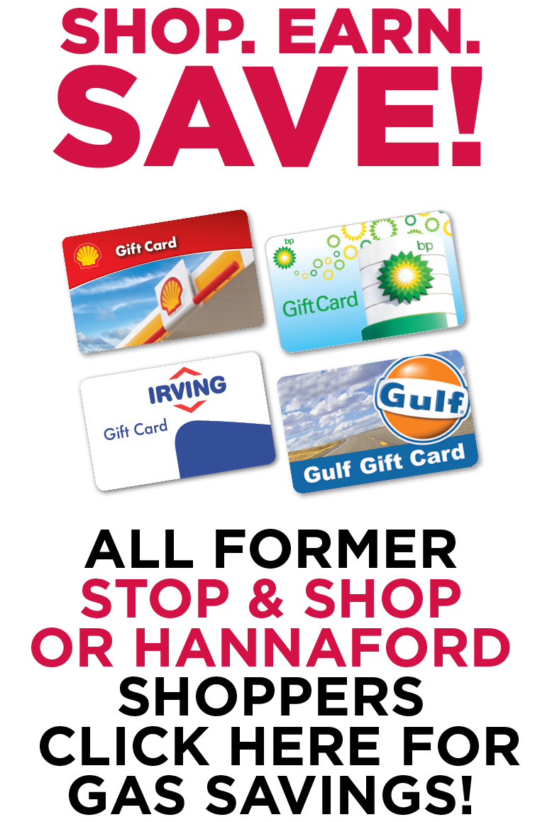Shop. Earn. SAVE! Click here for Gas Savings!