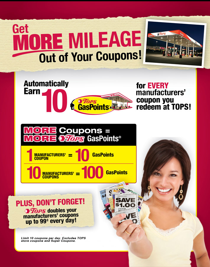 gas earning with coupons
