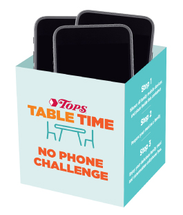 Tops Table Time No Phone Challenge Container