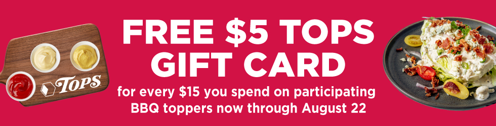 Free $5 Tops Gift Card