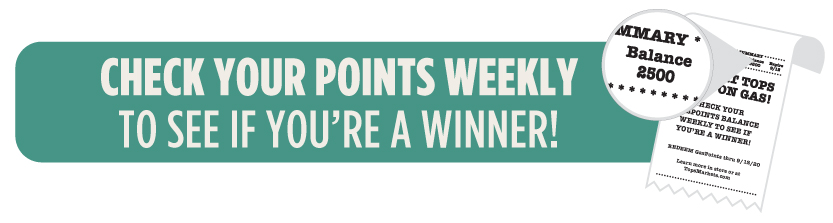 Check your points total