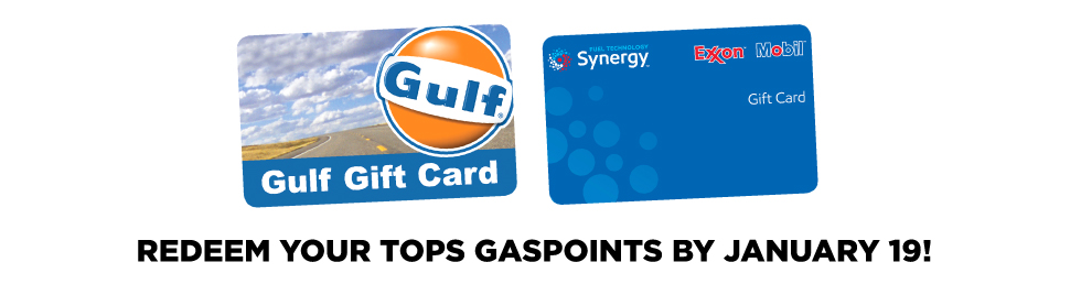 TOPS GasPoints Redeem by January 19