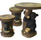 Picture of Garden Bistro Sets - Deer, Moose or Bear Garden Set