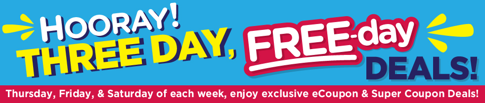 3 Day Free Day Deals